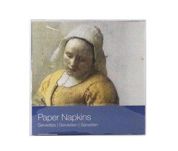 Serviettes en papier,  Vermeer, Laitière