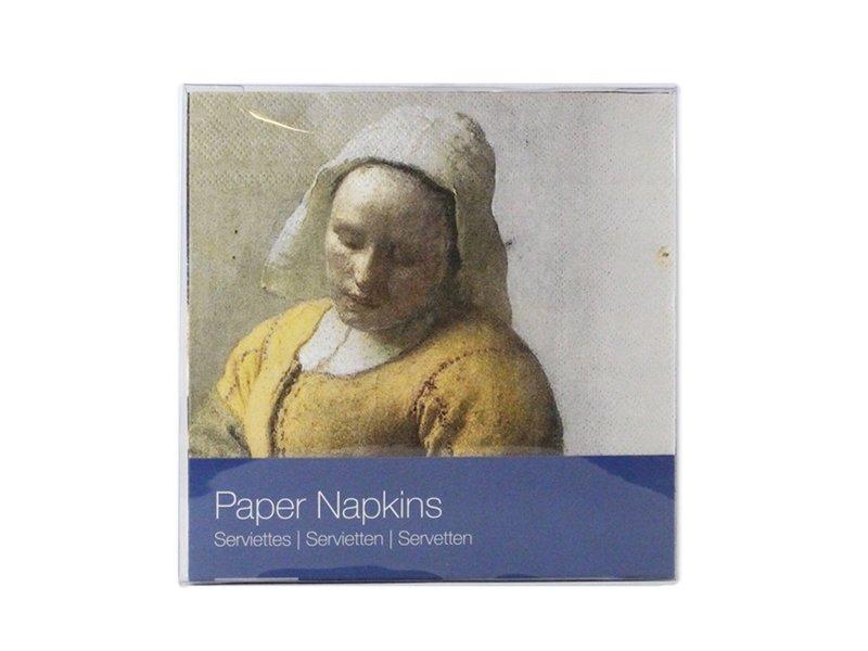 Papieren servetten , Vermeer,  De Melkmeid