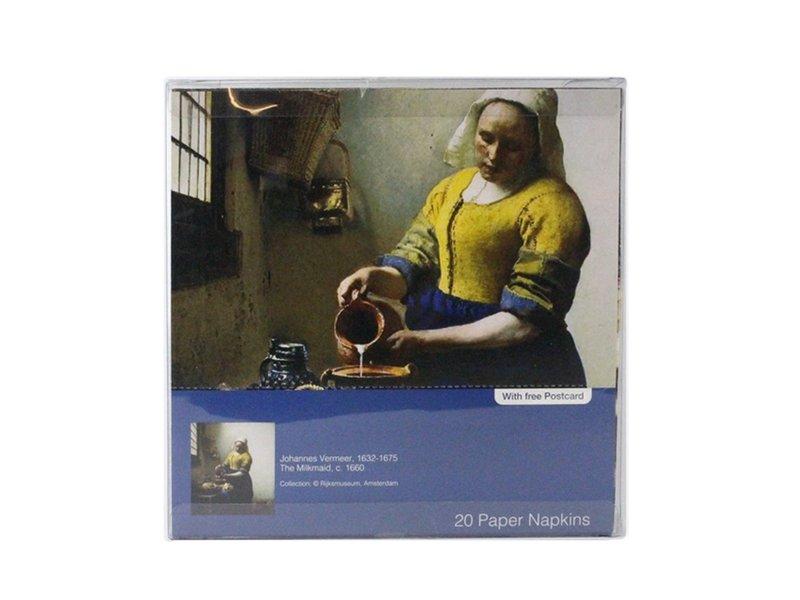 Papierservietten, Vermeer, Das Milchmädchen