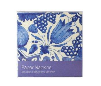 Papieren servetten, Delfts Blauwe hoektulp