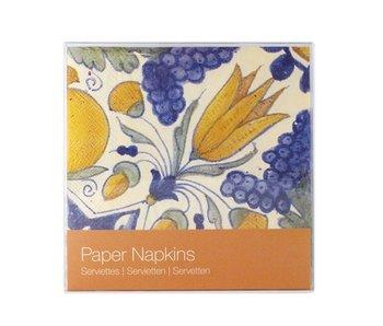 Papieren servetten, Tulp tegel polychroom