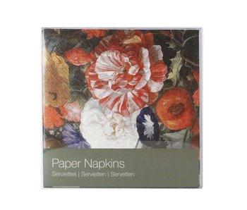 Servilletas de papel, Bodegón de flores, De Heem