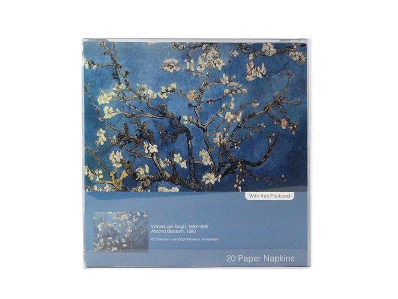 Papieren servetten, Amandelbloesem, Van Gogh