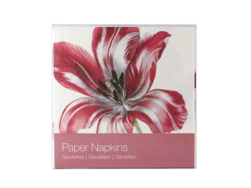 Papieren servetten, Drie tulpen, Merian
