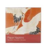 Papieren servetten, Witte en rode kraanvogels