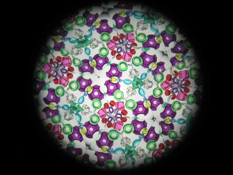 Caleidoscoop, kleinere en kleinere hagedissen, M.C. Escher