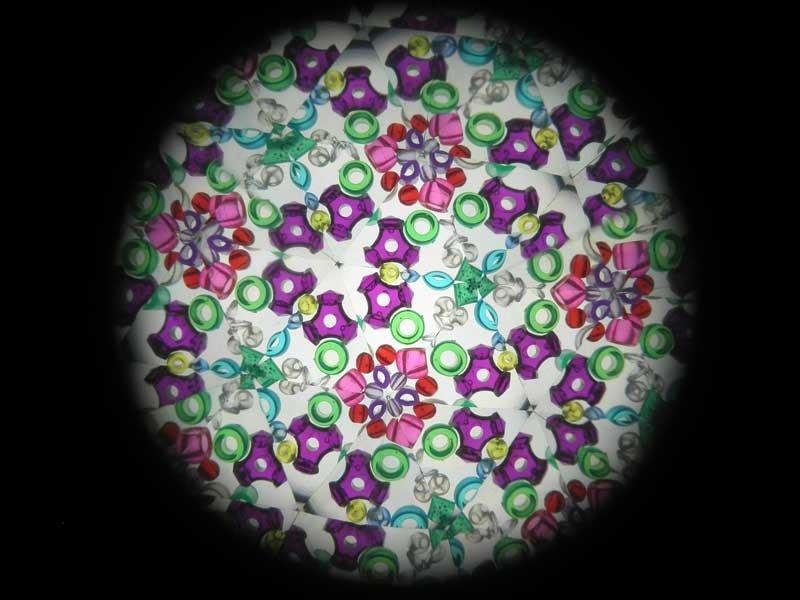 Kaleidoskop, kleiner und kleiner, Escher