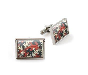 Manschettenknöpfe, kleiner und kleiner, M.C. Escher
