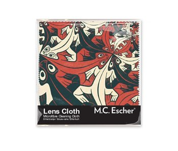 Lens cloth, 15 x 15 cm, Smaller and smaller, Escher