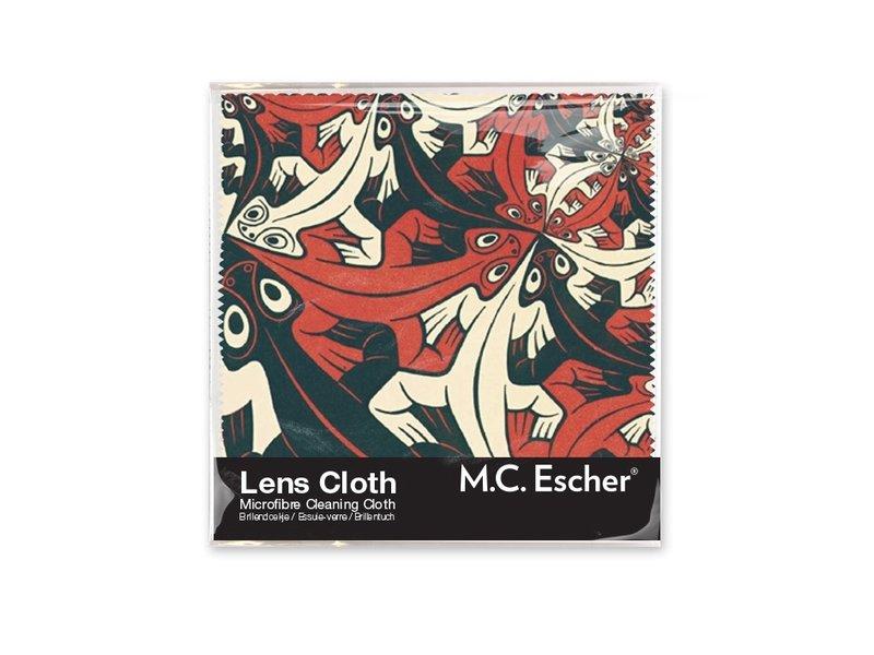 Linsentuch, 15 x 15 cm, kleiner und kleiner, Escher
