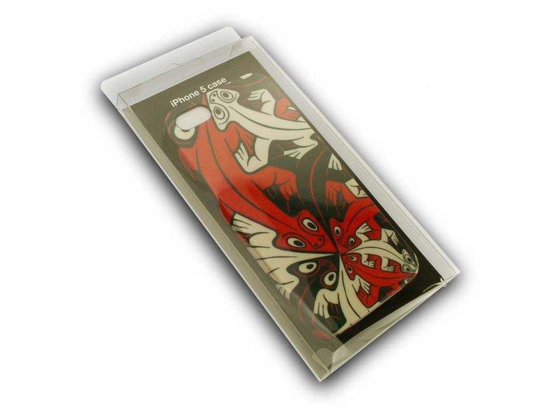 Caja del teléfono, I-phone 5, lagartijas más pequeñas y más pequeñas, M.C. Escher