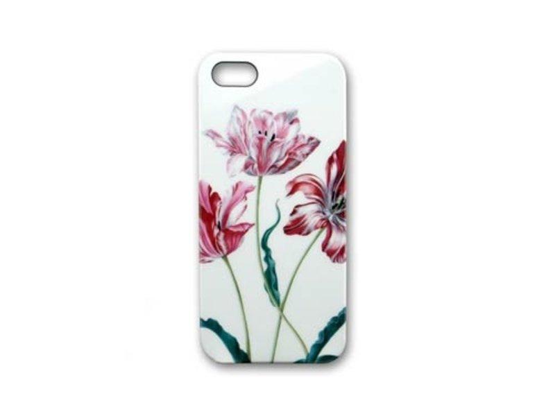 Telefoonhoesje, I-phone 5, Drie tulpen, Merian