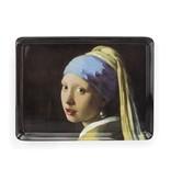 Plateau midi (27 x 20 cm), Fille avec une boucle d'oreille en perle, Vermeer