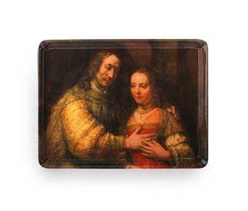Midi dienblad (27 x 20 cm) , Joodse bruidje, Rembrandt