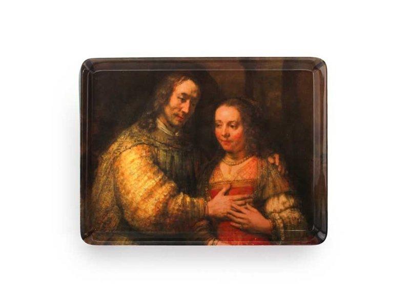 Plateau midi (27 x 20 cm), épouse juive, Rembrandt