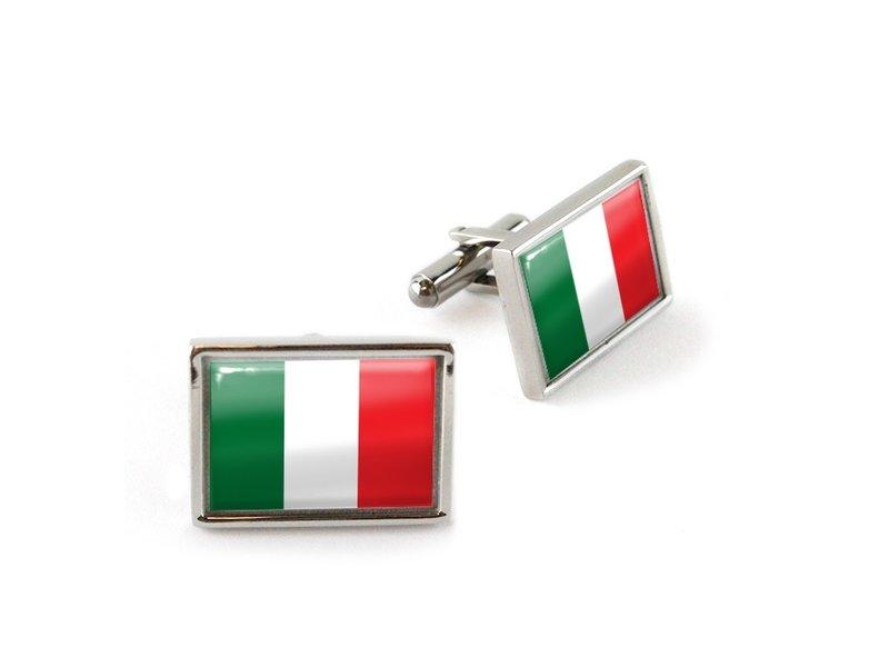 Manschettenknöpfe, Flagge Italien