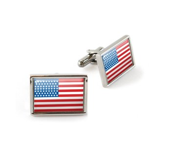 Cufflinks, Rectangular, American flag