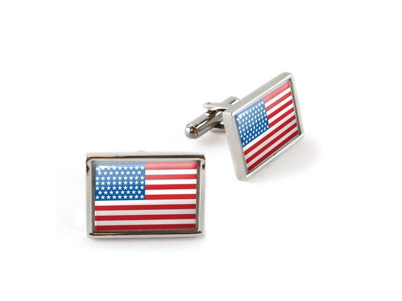 Cufflinks, Rectangular, American flag