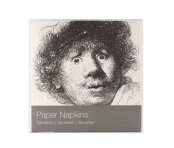 Paper Napkins, Curious face, Rembrandt