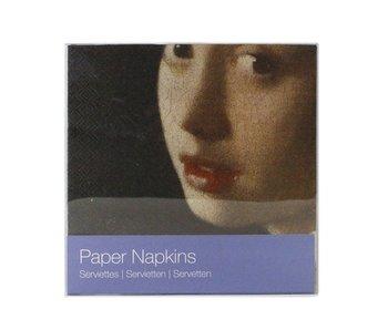 Papierservietten, Mädchen mit einem Perlenohrring, Vermeer