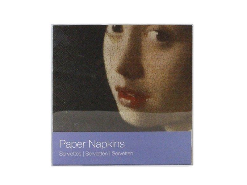 Papieren servetten , Meisje met de Parel, Vermeer
