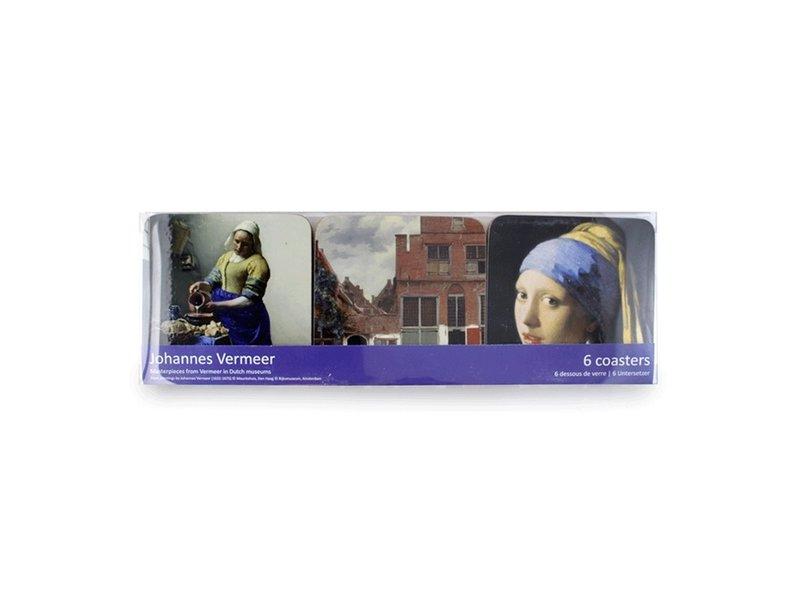 Onderzetters, schilderijen, Vermeer