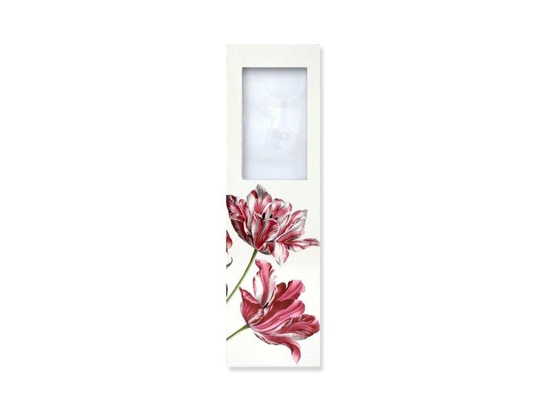 Marcador con lupa, Tres tulipanes, Merian