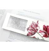 Boekenlegger met loepje, Drie tulpen, Merian