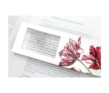Magnifying Bookmark, Three tulips, Merian