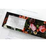 Marque-page avec loupe, Nature morte aux fleurs, De Heem