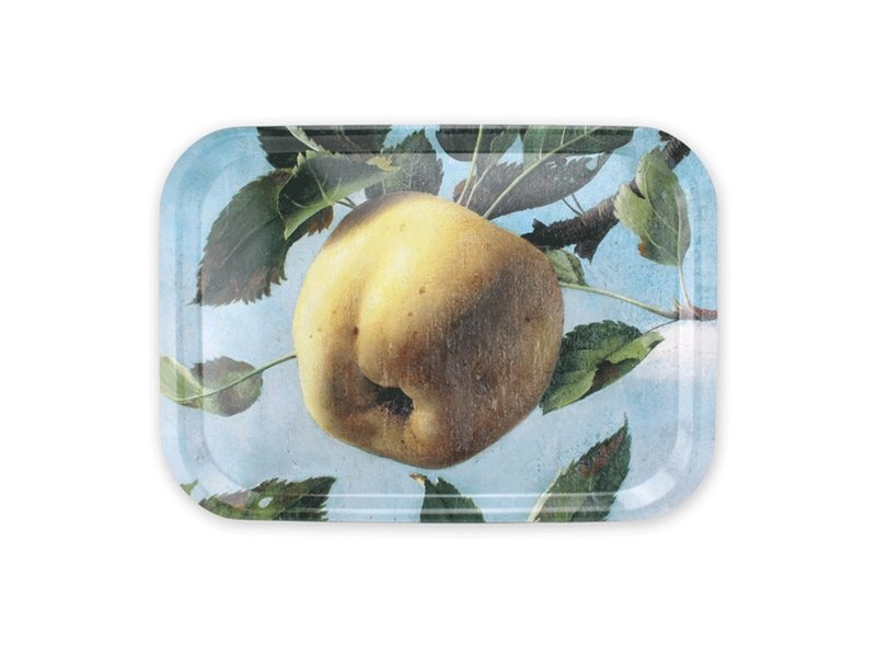 Bandeja laminada grande, Pyke Koch, Bodegón con manzana