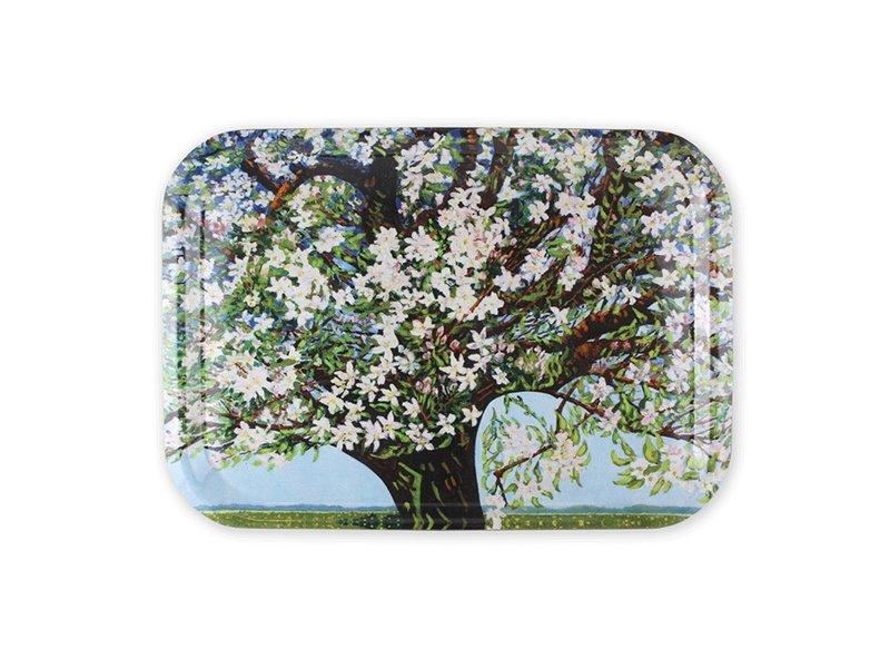Tablett Laminat groß, Charley Toorop, Beemster, blühender Baum