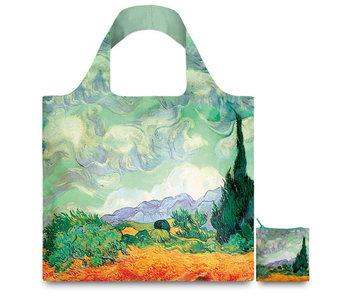 Faltbarer Shopper, Van Gogh, Weizenfeld mit Zypressen