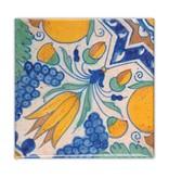 Koelkastmagneet,  Delfts blauw, Diagonale Tulp polychroom