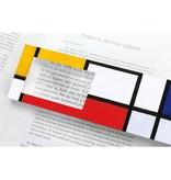 Lesezeichen mit Lupe, Mondrian