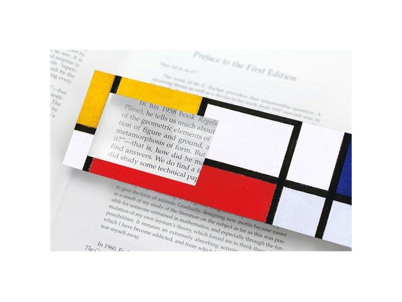 Marque-page avec loupe, Mondrian