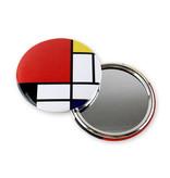 Miroir de poche, grand, Ø 80 mm, Mondriaan