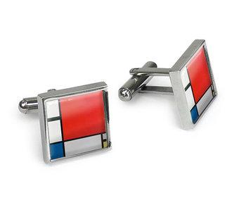 Manschettenknöpfe,  Piet Mondrian