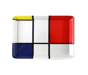 Mini bandeja, 21 x 14 cm, composición Mondrian