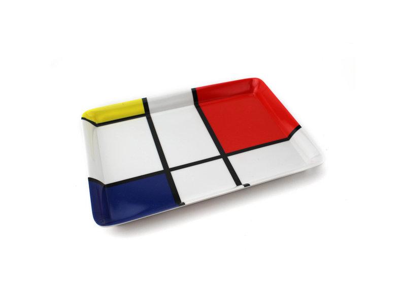 Mini plateau, 21 x 14 cm, composition Mondrian