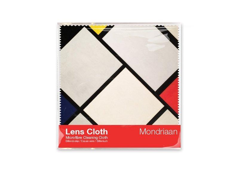 Brillendoekje, 15 x 15 cm, Lozenge compositie, Mondriaan