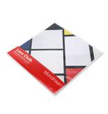 Paño de gafas, 15 x 15 cm, composición de rombo, Mondrian