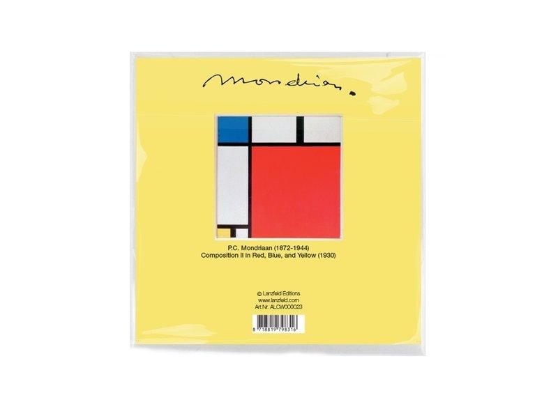 Paño de gafas, 15 x 15 cm, Composición II, Mondrian