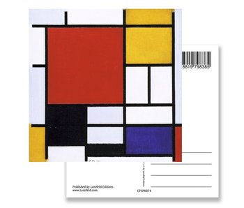 Postkarte, Komposition mit großer roter Fläche, Mondrian