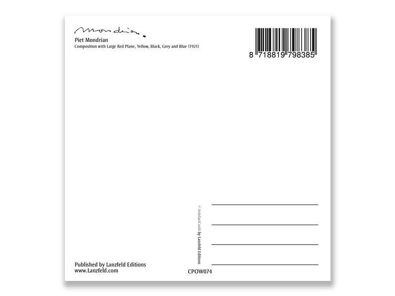 Carte postale, Composition avec grande zone rouge, Mondrian