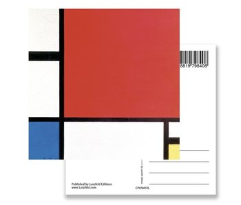 Carte postale, Composition II, 1930, Mondrian