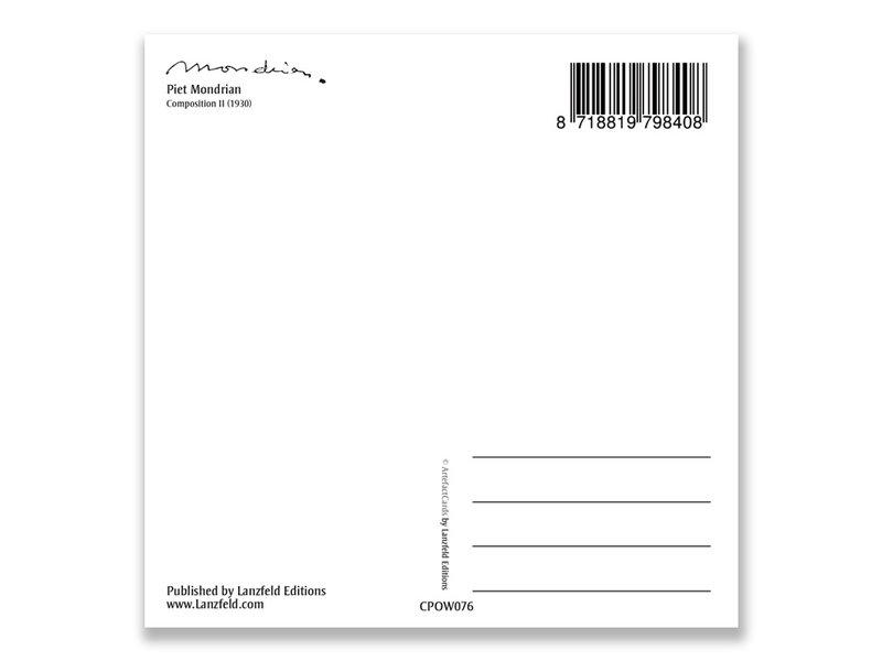 Postkarte, Komposition II, 1930, Mondrian