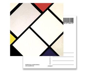 Composición de rombo, postal, Mondrian
