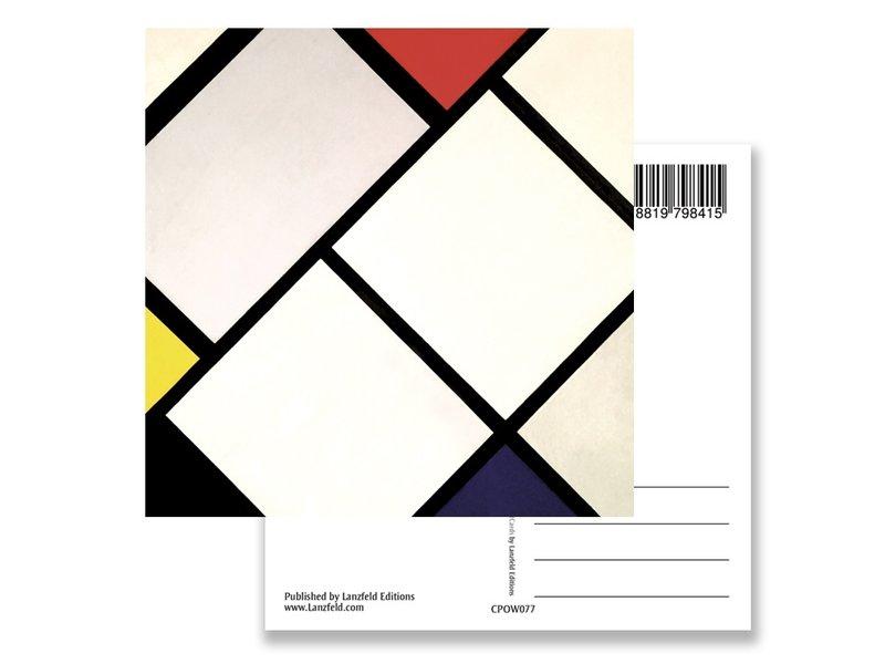 Postkarte, Rautenkomposition, Mondrian
