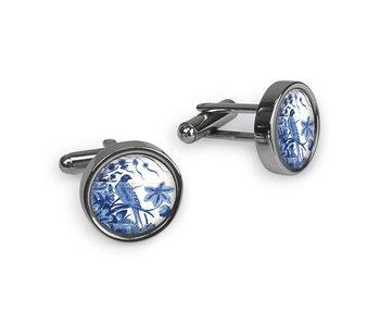Manchetknopen, Delfts blauwe Vogels